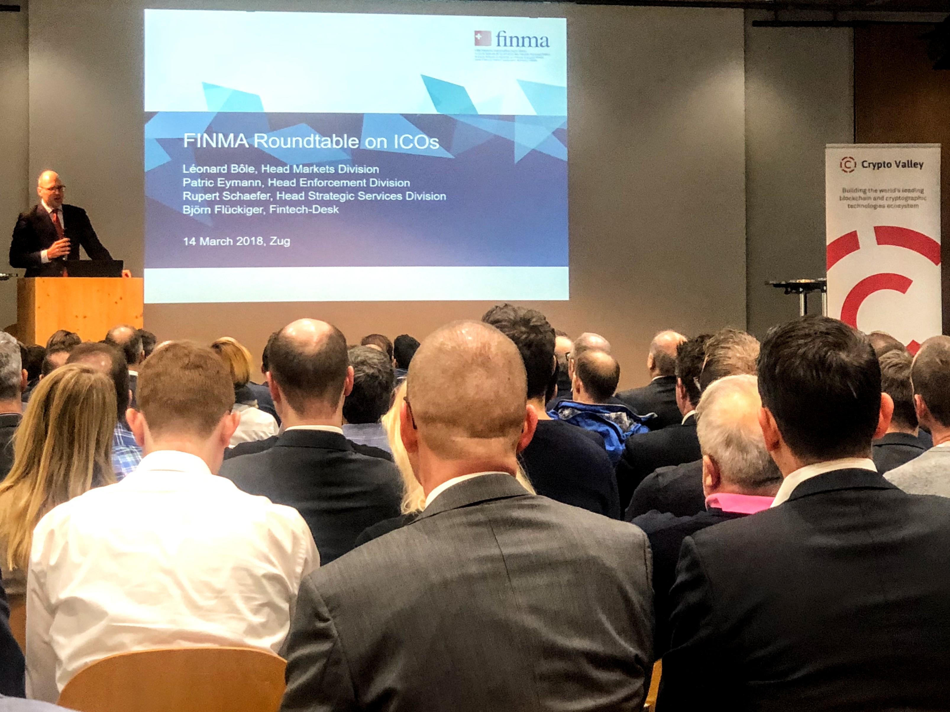FINMA roundtable on ICOs - image by Boris Reinhard