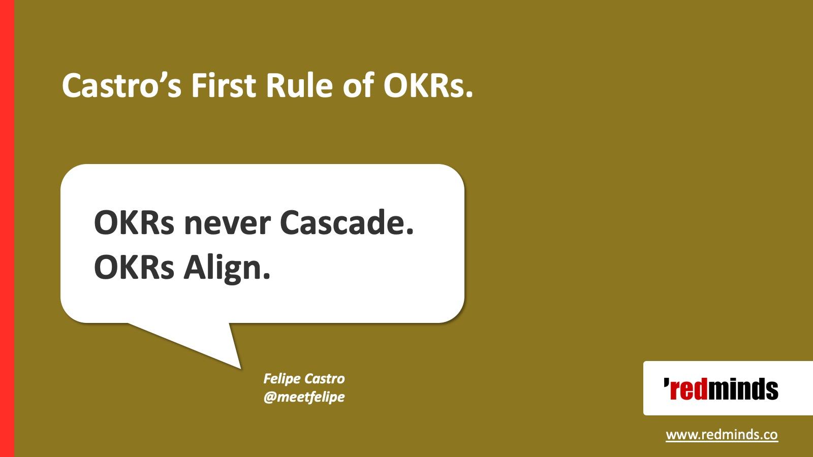 OKRs align.